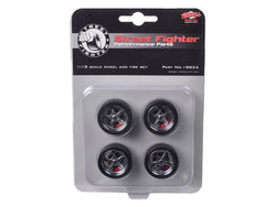"1970 Chevrolet Nova Street Fighter ""Overkill"" 5 Spoke Wheels and Tire Pack (4 Piece set) 1/18 Diecast by GMP"