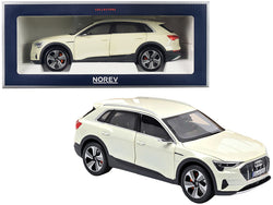 2019 Audi e-tron Yellowish White Metallic 1/18 Diecast Model Car by Norev