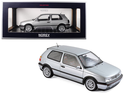 "1996 Volkswagen Golf GTI Silver ""20th Anniversary Edition"" 1/18 Diecast Model Car by Norev"