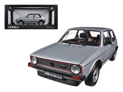1976 Volkswagen Golf GTi Silver 1/18 Diecast Model Car by Norev