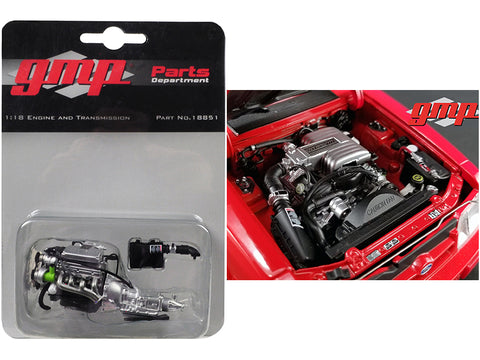 Ford 5.0 Engine and Transmission Replica from  a 1992 Ford Mustang LX 1/18 Diecast Model by GMP