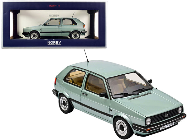 1987 Volkswagen Golf CL Light Green Metallic 1/18 Diecast Model Car by Norev