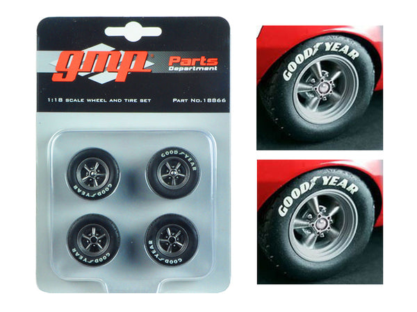 Trans Am Wheels and Tires (Set of 4) from 1967 Chevrolet Camaro Z/28 Chevy-Land Heinrich 1/18 Diecast by GMP