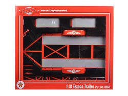 "Tandem Car Trailer ""Texaco"" with Tire Rack 1/18 Diecast Model by GMP"