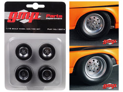 "1968 Chevrolet Nova ""1320 Drag King's"" Wheels and Tires (Set of 4) 1/18 Diecast by GMP"