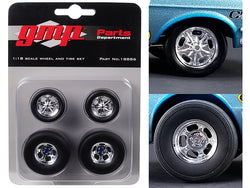 "Wheels and Tires (Set of 4) from Ohio George's 1967 Ford Mustang ""Malco Gasser"" 1/18 Diecast by GMP"