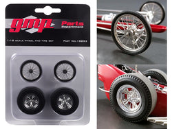 "Wheels and Tires (4 piece Set) from Tommy Ivo's ""Barnstormer"" Vintage Dragster 1/18 Model by GMP"