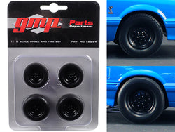 "Wheels and Tires (Set of 4) from 1993 Ford Mustang Cobra 1320 Drag Kings ""King Snake"" 1/18 Diecast by GMP"