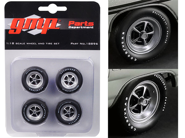 "Magnum Wheels and Tires (Set of 4 pieces) from ""1970 Plymouth GTX"" 1/18 by GMP"