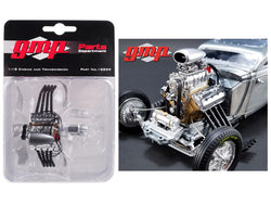 Blown Altered Drag Engine and Transmission Replica from a 1934 Blown Altered Coupe 1/18 Model by GMP