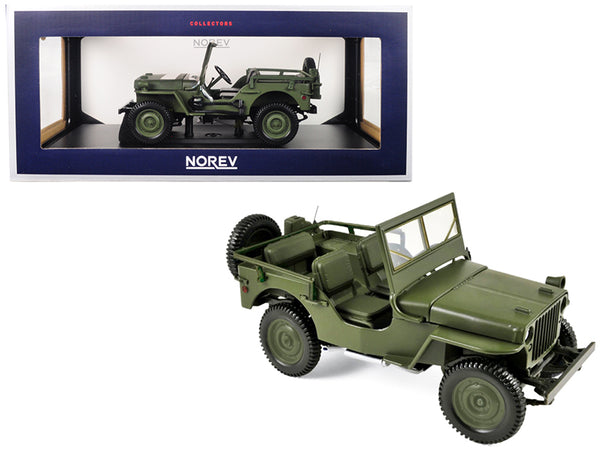 1942 Jeep Green 1/18 Diecast Model Car by Norev