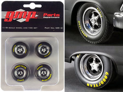 "Pro Star 5-Spoke Drag Wheels and Tires (4 Piece Set) from ""Pork Chop's 1966 Ford Fairlane"" 1/18 by GMP"