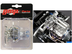 "Twin Turbo Boss 429 Drag Engine and Transmission Replica from 1969 Ford Mustang Gasser ""The Boss"" 1/18 Model by GMP"