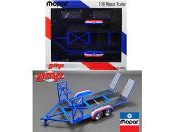 "Tandem Car Trailer with Tire Rack ""MOPAR"" 1/18 Diecast Model by GMP"