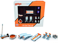 """Gulf Oil"" (6 Piece Shop Tools Set) 1/18 Diecast Replica by GMP"