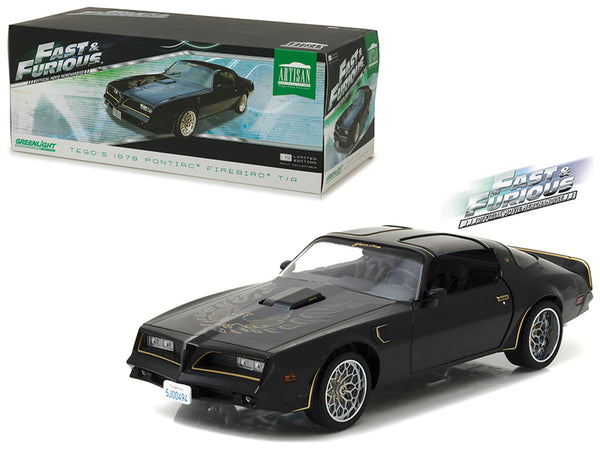 "Tego's 1978 Pontiac Firebird Trans Am ""Fast and Furious"" (2009) Movie Artisan Collection 1/18 Diecast Model Car  by Greenlight"