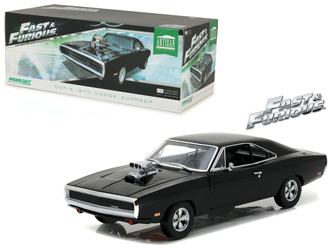"Dom's 1970 Dodge Charger ""Fast and Furious"" (2001) Movie Artisan Collection 1/18 Diecast Model Car by Greenlight"