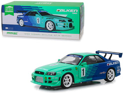 "1999 Nissan Skyline GT-R (BNR34) #1 ""Falken Tires"" 1/18 Diecast Model Car by Greenlight"