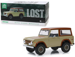 "1970 Ford Bronco Tan and Brown ""Lost"" (2004-2010) TV Series 1/18 Diecast Model by Greenlight"