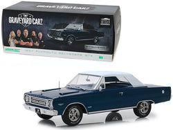 "1967 Plymouth Belvedere GTX Convertible Dark Blue ""Graveyard Carz"" (2012) TV Series 1/18 Diecast Model Car by Greenlight"