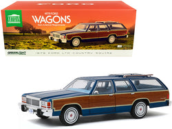 "1979 Ford LTD Country Squire Midnight Blue with Wood Grain Paneling ""1979 Ford Wagons from America's Wagonmaster"" 1/18 Diecast Model Car by Greenlight"