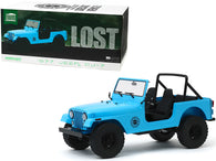 "1977 Jeep CJ-7 ""Dharma"" Blue ""Lost"" (2004-2010) TV Series 1/18 Diecast Model Car by Greenlight"