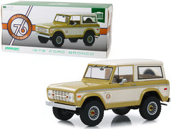 "1976 Ford Bronco Gold Metallic and Cream ""Colorado Gold Rush"" Bicentennial Special Edition 1/18 Diecast Model Car by Greenlight"