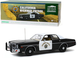 1975 Dodge Coronet Black and White (California Highway Patrol - CHP) 1/18 Diecast Model Car by Greenlight
