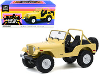 "1980 Jeep CJ-5 Yellow (Julie Roger's) ""Charlie's Angels"" (1976-1981) TV Series 1/18 Diecast Model by Greenlight"