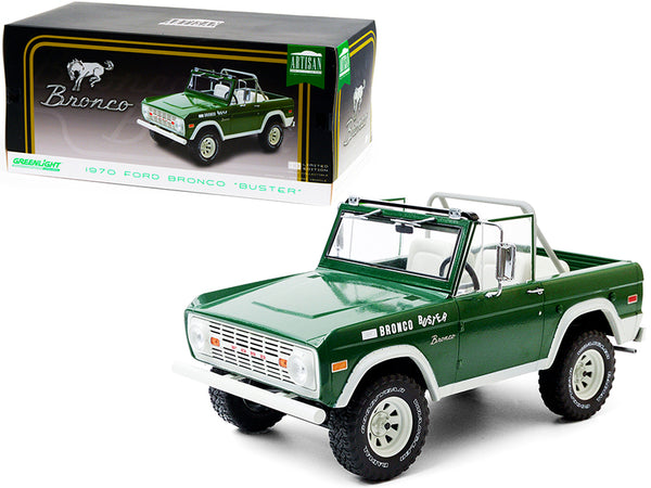 "1970 Ford Bronco ""Buster"" Green 1/18 Diecast Model Car by Greenlight"