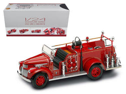 1941 GMC Fire Engine Red with Accessories 1/24 Diecast Model by Road Signature