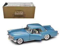 1956 Lincoln Continental Mark 2 Blue 1/18 Diecast Model Car by Road Signature