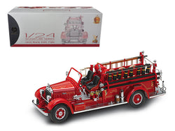 1935 Mack Type 75BX Fire Truck Red with Accessories 1/24 Diecast Model by Road Signature