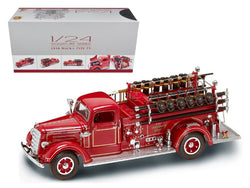 1938 Mack Type 75 Fire Engine Red with Accessories 1/24 Diecast Model by Road Signature