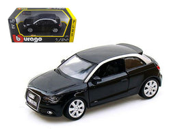 Audi A1 Black 1/24 Diecast Model Car by Bburago