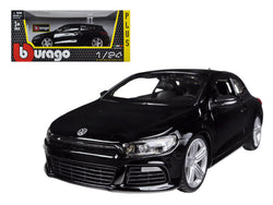 Volkswagen Scirocco R Black 1/24 Diecast Model Car by Bburago