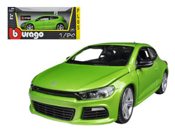 Volkswagen Scirocco R Green 1/24 Diecast Model Car by Bburago