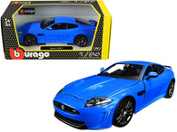 Jaguar XKR-S Metallic Blue 1/24 Diecast Model Car by Bburago