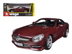 Mercedes SL 500 Coupe Red 1/24 Diecast Model Car by Bburago