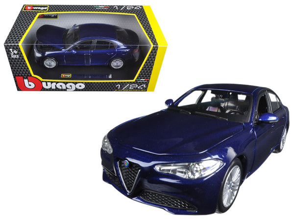 2016 Alfa Romeo Giulia Blue 1/24 Diecast Model Car by Bburago