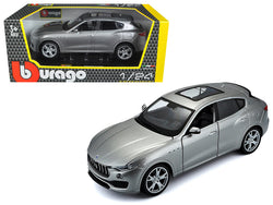 Maserati Levante Silver 1/24 Diecast Model Car by Bburago
