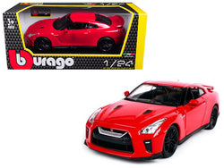 2017 Nissan GT-R R35 Red 1/24 Diecast Model Car by Bburago