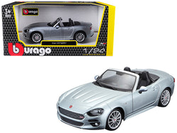 Fiat 124 Spider Coupe Grey 1/24 Diecast Model Car by Bburago