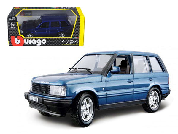 Land Rover Range Rover Blue 1/24 Diecast Model Car by Bburago