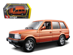 Land Rover Range Rover Orange 1/24 Diecast Model Car by Bburago