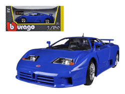 Bugatti EB 110 Blue 1/24 Diecast Model Car by Bburago