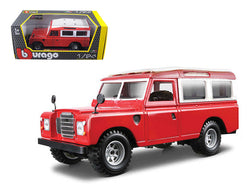 Old Land Rover Red 1/24 Diecast Model Car by Bburago