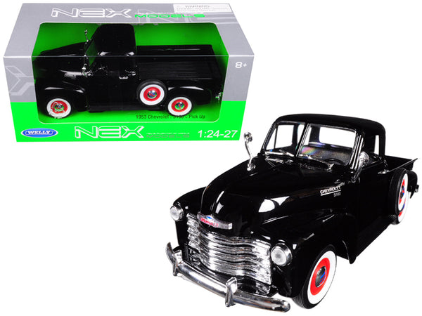 1953 Chevrolet 3100 Pick Up Truck Black 1/24 - 1/27 Diecast Model by Welly