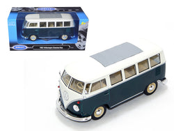 1962 Volkswagen Microbus Green 1/24 Diecast Model by Welly