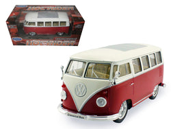 "1962 Volkswagen Classic Bus ""Low Rider"" Red 1/24 Diecast Model by Welly"